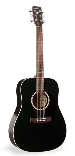 Art & Lutherie Cedar Black Acoustic Guitar