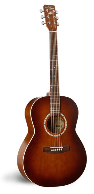 Art & Lutherie Folk Cedar Antique Burst Left Handed Acoustic Guitar