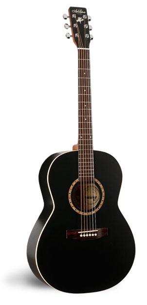 Art & Lutherie Folk Cedar Black Acoustic Guitar