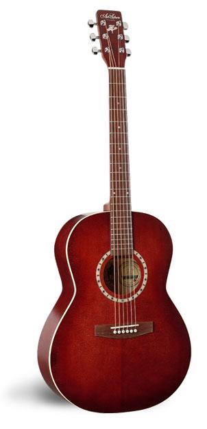 Art & Lutherie Folk Spruce Burgundy Acoustic Guitar