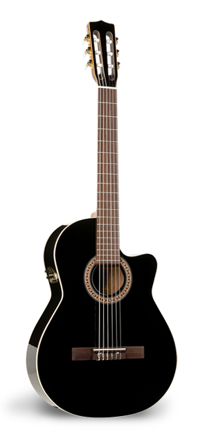 La Patrie Hybrid CW Black HG Acoustic Electric Guitar