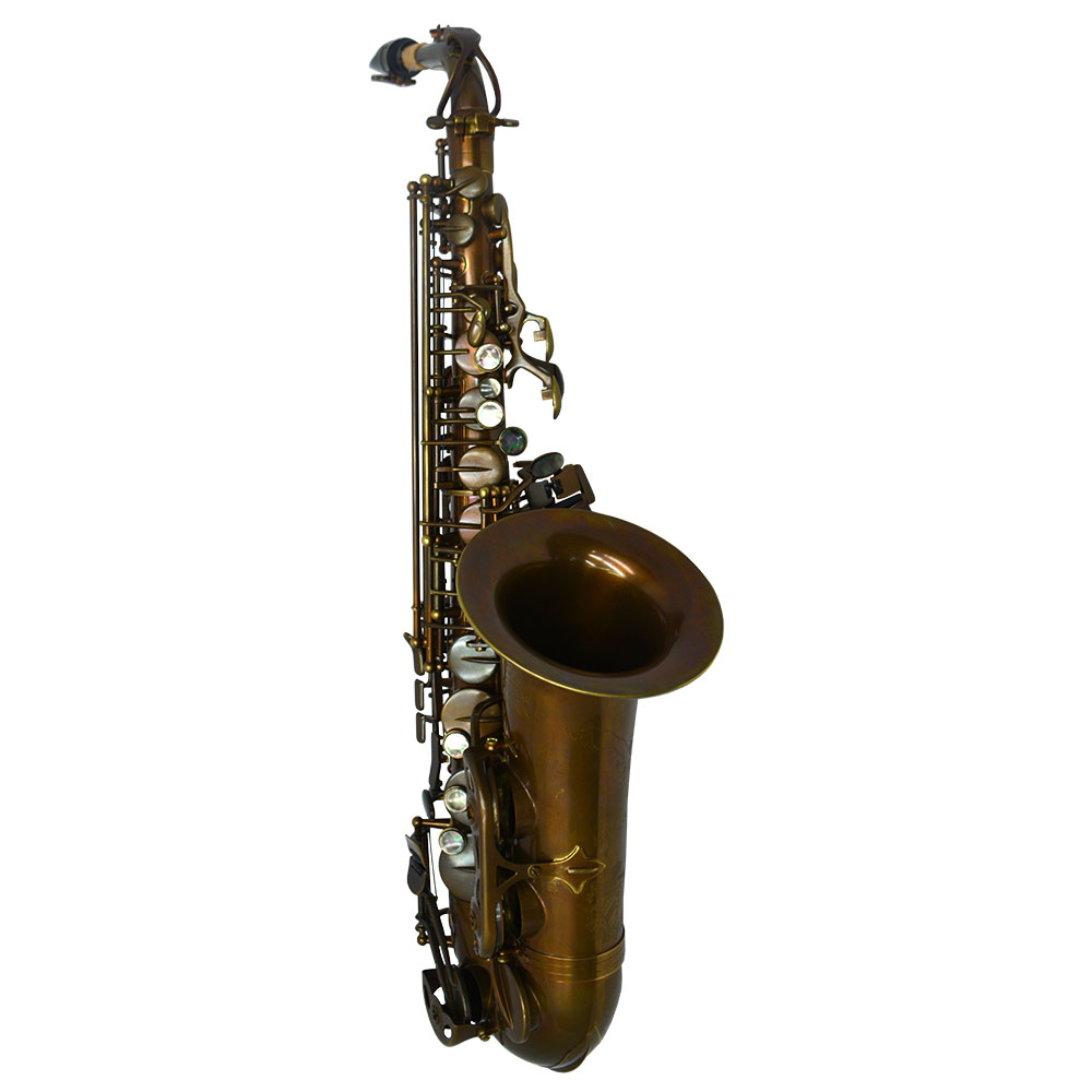 Schiller Havana Alto Saxophone - Dark Unlacquered Duralast Finish