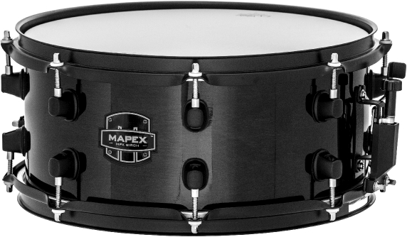 Mapex MPX Birch Snare Drum - MPBC3600BMB - Transparent Midnight Black - 13