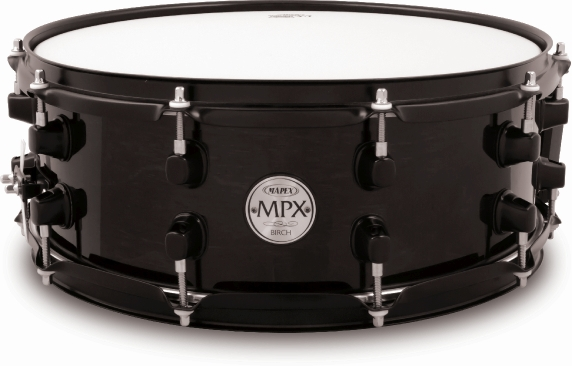 Mapex MPX Birch Snare Drum - MPBC4550BMB - Transparent Midnight Black - 14