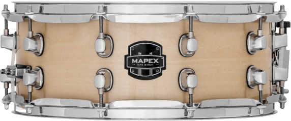 Mapex MPX Birch Snare Drum - MPBC4550CXN - Transparent Natural