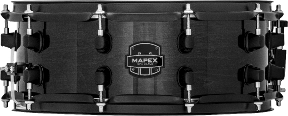 Mapex MPX Maple Snare Drum - MPML4550BMB - Transparent Midnight Black