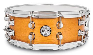 Mapex MPX Maple Snare Drum - MPML4550CNL - Transparent Natural