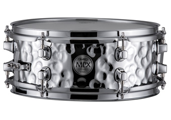 Mapex MPX Steel Hammered Snare Drum - MPST2506H - Chrome Finish