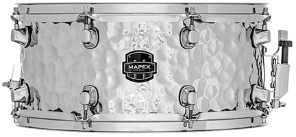 Mapex MPX Steel Hammered Snare Drum - MPST4658H - Chrome Finish