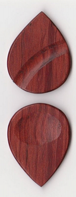 Thicket Wooden Guitar Pick - Thumb & Finger Groove - African Padauk - Pack of Three