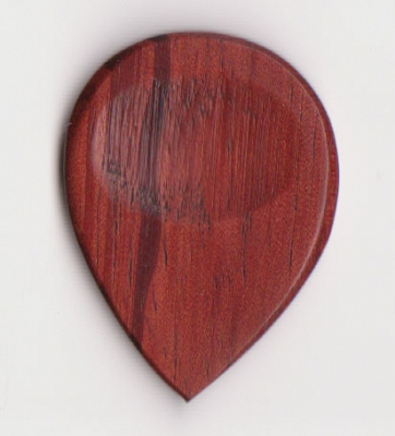 Thicket Wooden Guitar Pick with Thumb Groove - African Padauk - Pack of 3