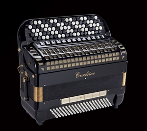 Excelsior 921R 120 Bass Chromatic Accordion
