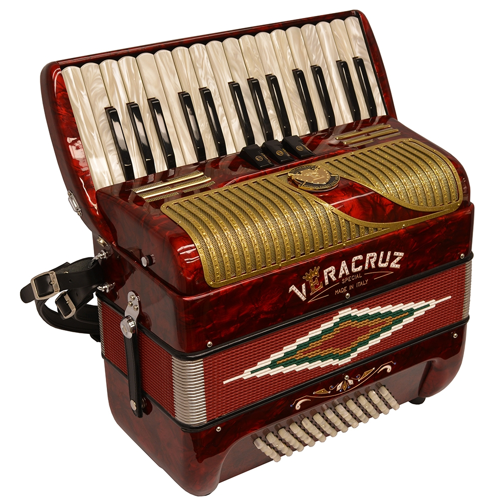 Excalibur Veracruz MII 60 Bass Piano Accordion - Red & Gold