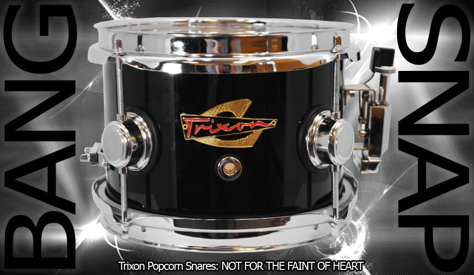 Trixon Elite Popcorn Snare Drum - Black