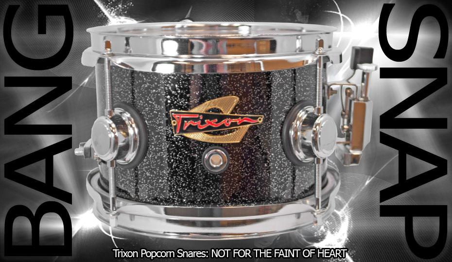 Trixon Elite Popcorn Snare Drum - Black Sparkle