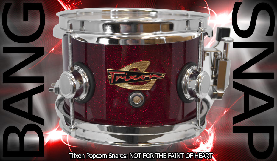 Trixon Elite Popcorn Snare Drum - Red Sparkle