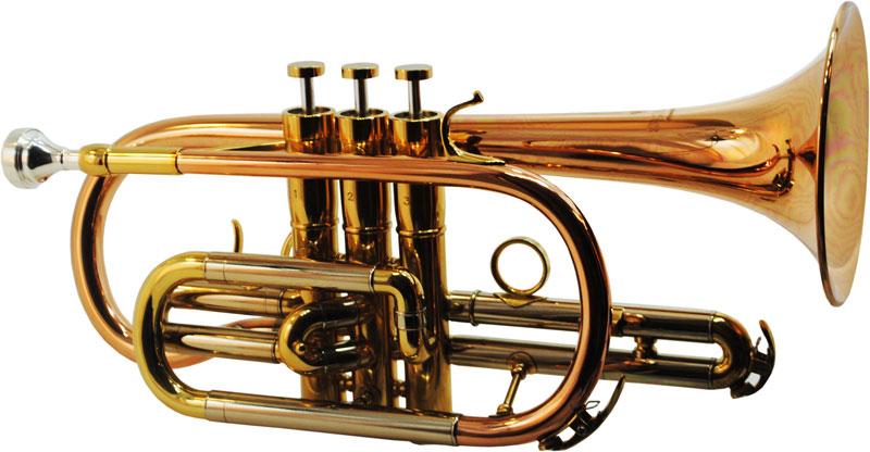 Schiller CenterTone Bb Cornet - Rose Brass with Gold Accents