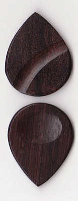Thicket Wooden Guitar Pick - Thumb & Finger Groove - Rosewood - Pack of Three