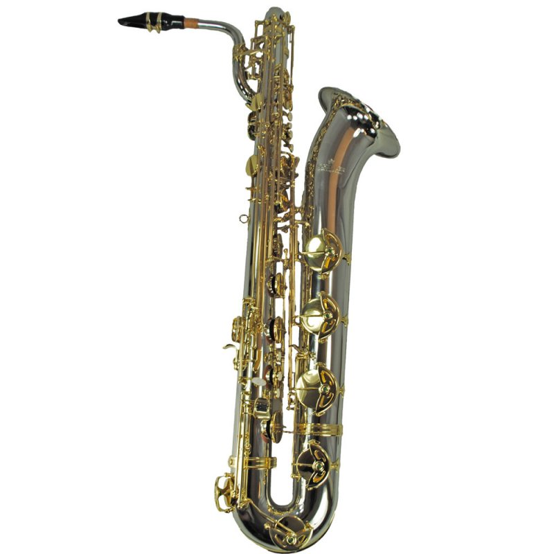 Schiller Elite IV Baritone Saxophone - Silver & Gold