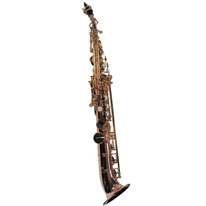 Schiller Elite V Semi-Curved Soprano Saxophone – Rose & Gold
