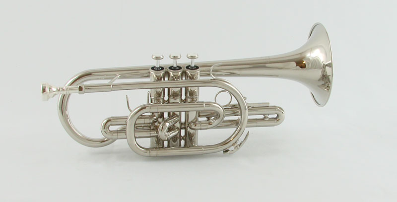 Schiller Shepherds Crook Pro Nickel Plated Cornet