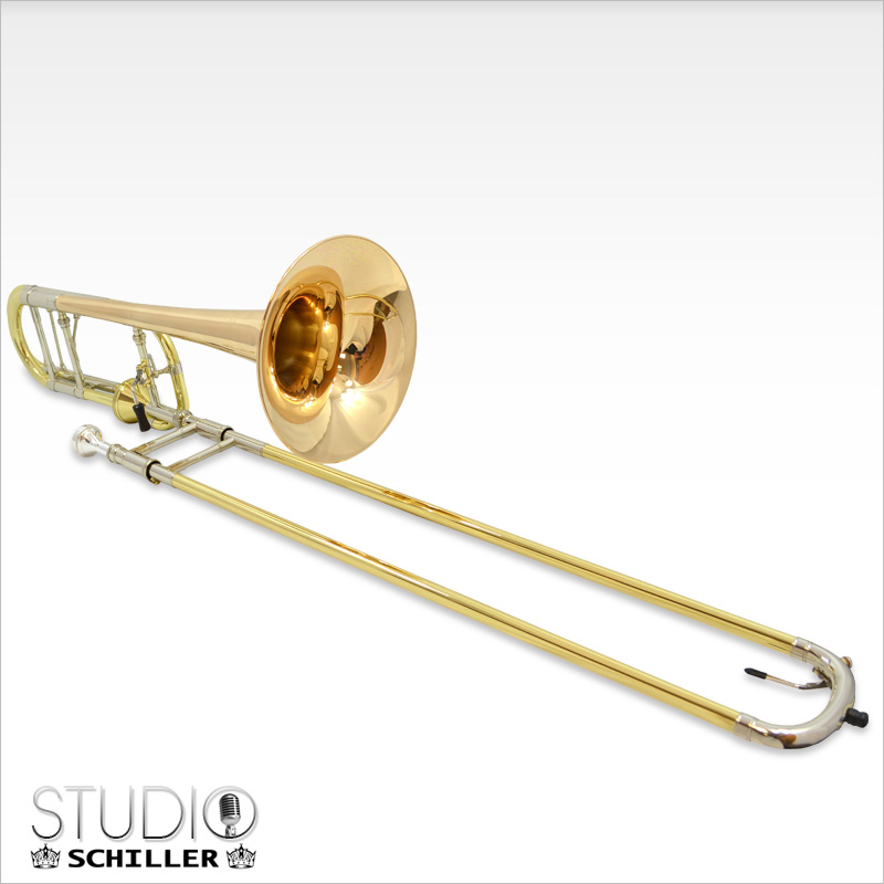 Schiller Studio Axial Flow Trombone with Rose Gold Brass Bell