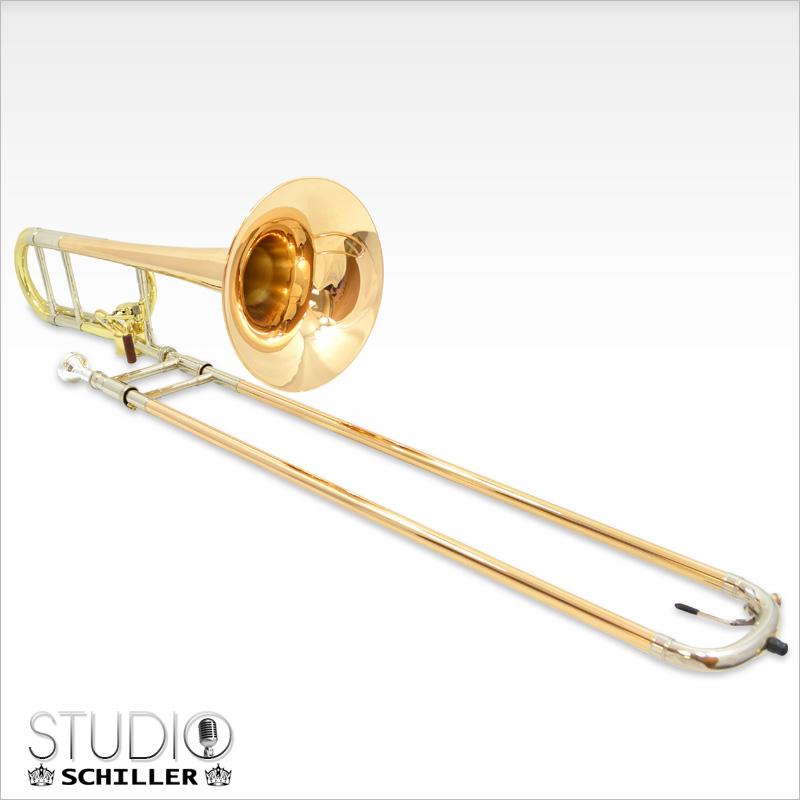Schiller Studio Hagmann Trombone with Gold Brass Bell