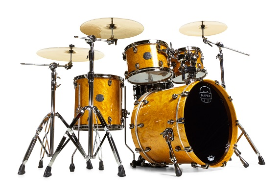 Mapex Saturn V MH Exotic Fusion 4-piece shell pack with SONIClear Edge - SV504XBMNL - Amber Maple Burl