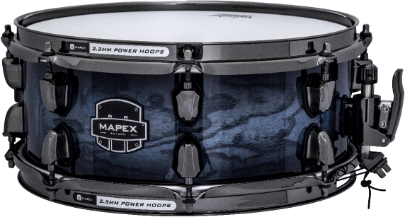 2ace4cd68523 Mapex Saturn MH Exotic Snare Drum – Deep Water Ash Burl ...