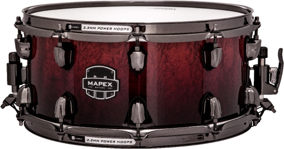 Mapex Saturn MH Exotic Snare Drum - Cherry Mist Rosewood Burl - SVS4650BRLE