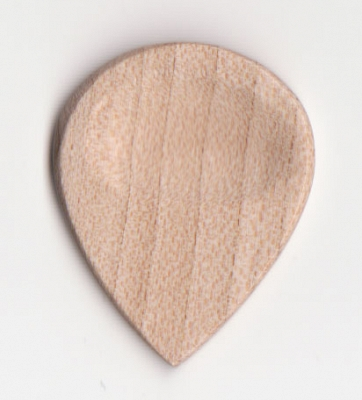 Thicket Wooden Guitar Pick with Thumb Groove - Sycamore - Pack of 3