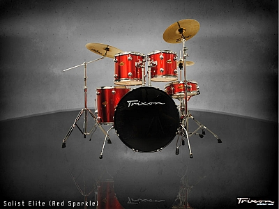 Trixon Solist Elite 5-Piece - Red Sparkle