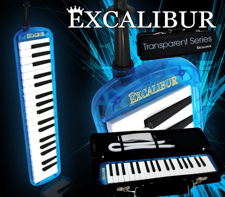 Excalibur 37 Note Melodica Ocean BlueTransparent