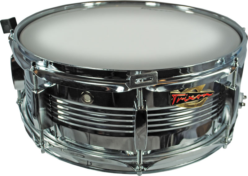 Trixon Solist Elite Chrome Snare Drum with V Rib shell