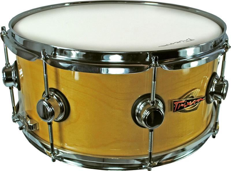 Trixon Soloist Elite Snare Drum Natural Triple Flanged