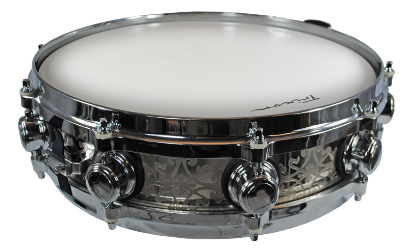Trixon Solist Elite Stainless Steel Piccolo Snare Drum Hand Etched