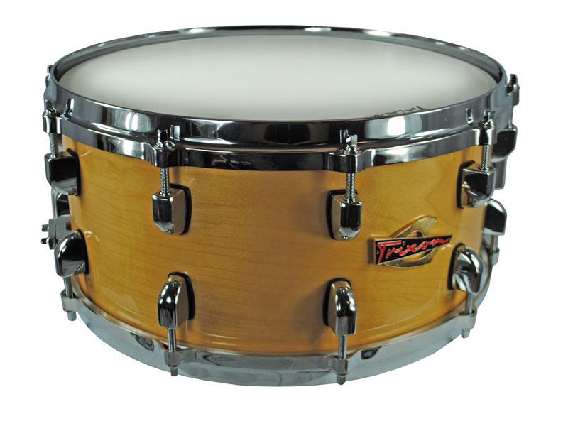 Trixon Soloist Elite Snare Drum Natural Die Cast