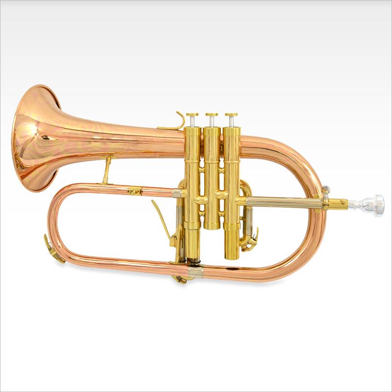 Schiller CenterTone Flugelhorn w/ Trigger - Rose Brass