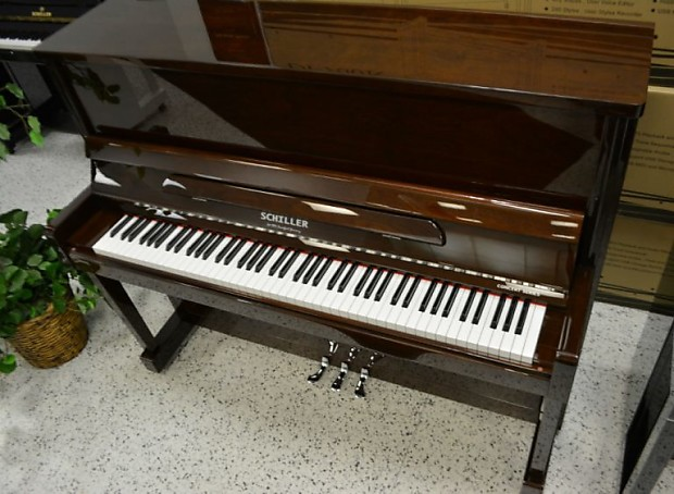Schiller Professional Concert Upright Walnut Polish