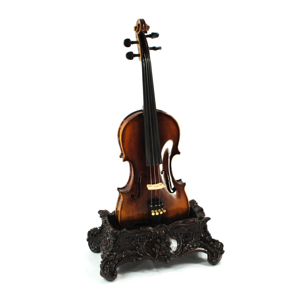 Vienna Strings World Artisan - Chinese Qing Dynasty Table Stand for Violin - Aged Bronze