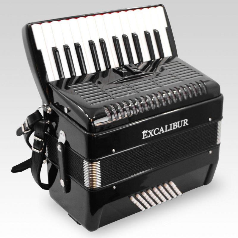 Excalibur German Weltbesten Ultralite 48 Bass Piano Accordion - Ebony Polish
