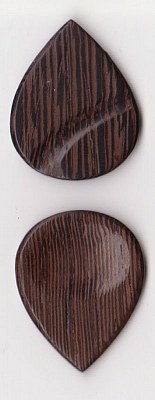Thicket Wooden Guitar Pick - Thumb & Finger Groove - Wenge - Pack of Three