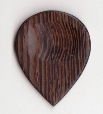 Thicket Wooden Guitar Pick with Thumb Groove - Wenge - Pack of 3