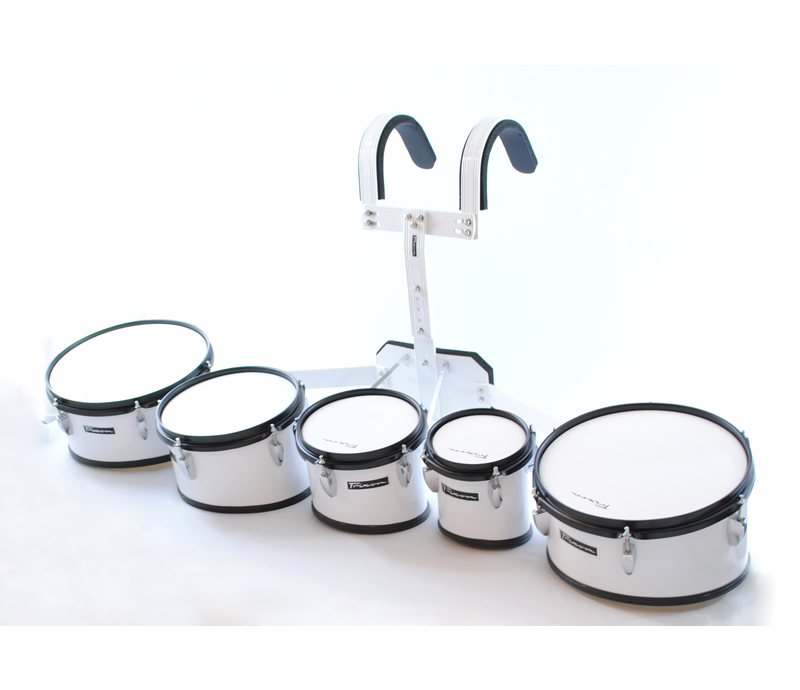 Trixon Marching Toms Set of 5 White