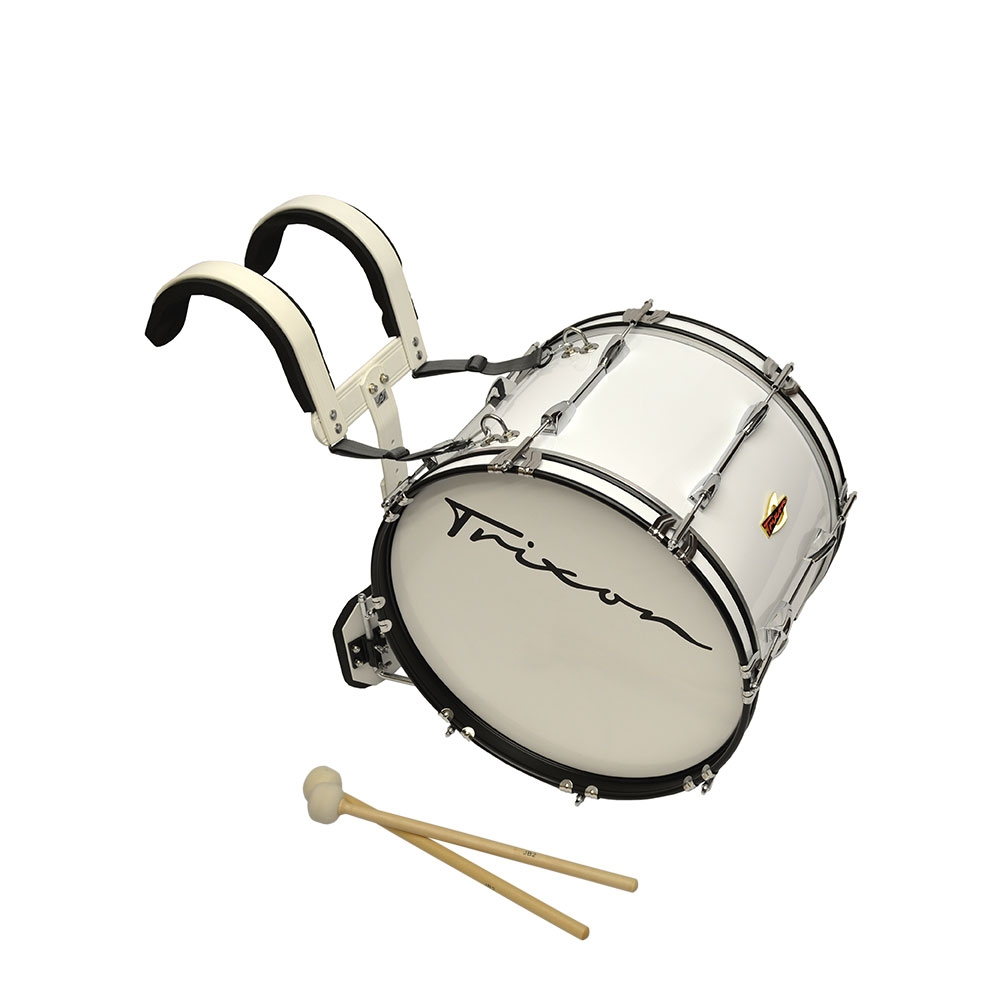 Trixon Marching Bass Drum 18x12 white