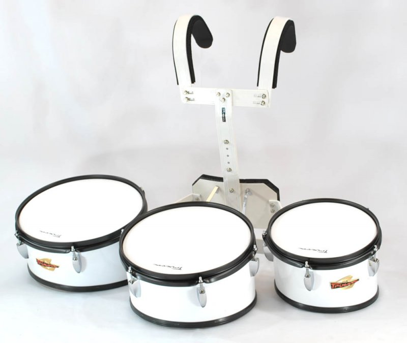 Trixon Marching Toms Set of 3 White