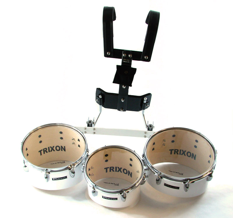 Trixon Pro Marching Toms Set of 3 White