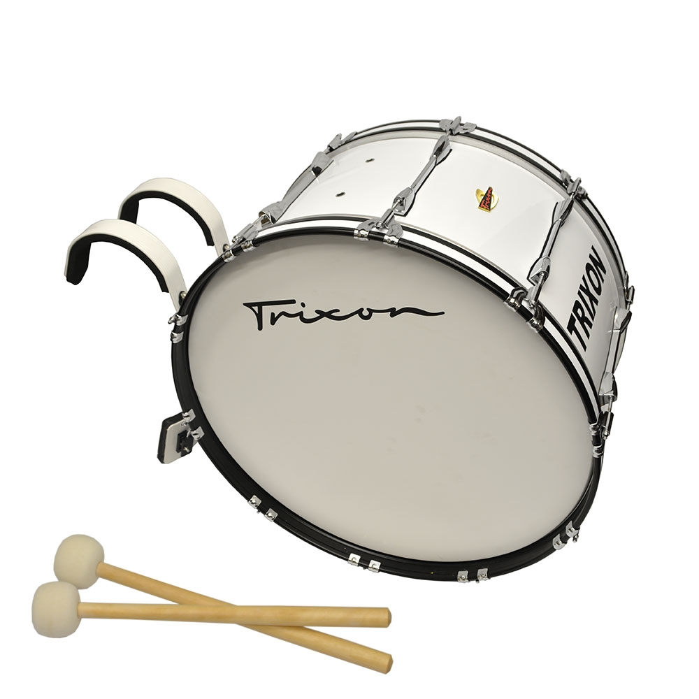 Trixon Pro Marching Bass Drum 28x14 white