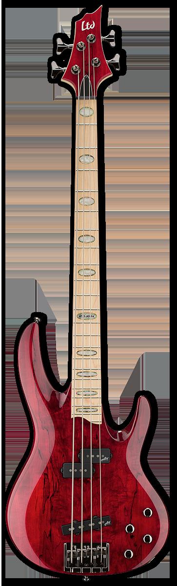 ESP LTD RB-1004SM See Thru Red Bass Guitar