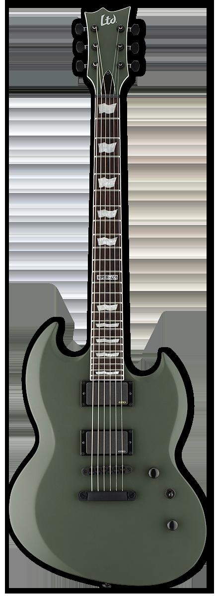 ESP LTD Viper-401 Military Green Satin Electric Guitar